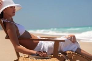 Am Strand relaxen