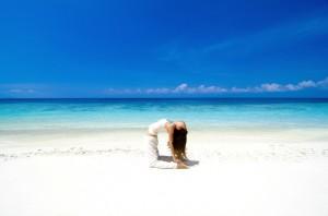 Posición del camello en Yoga