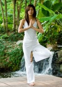 La postura de oración en Yoga