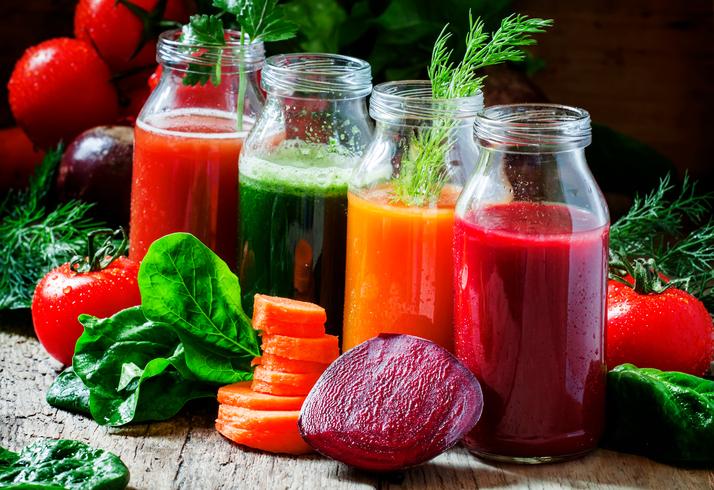 Gemüsesäfte zum Saftfasten