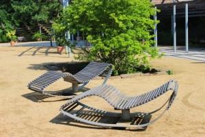 Relaxliegen im Kurpark Bad Bevensen