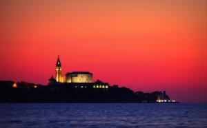 Traumhafter Sonnenuntergang in Strunjan - Slowenien