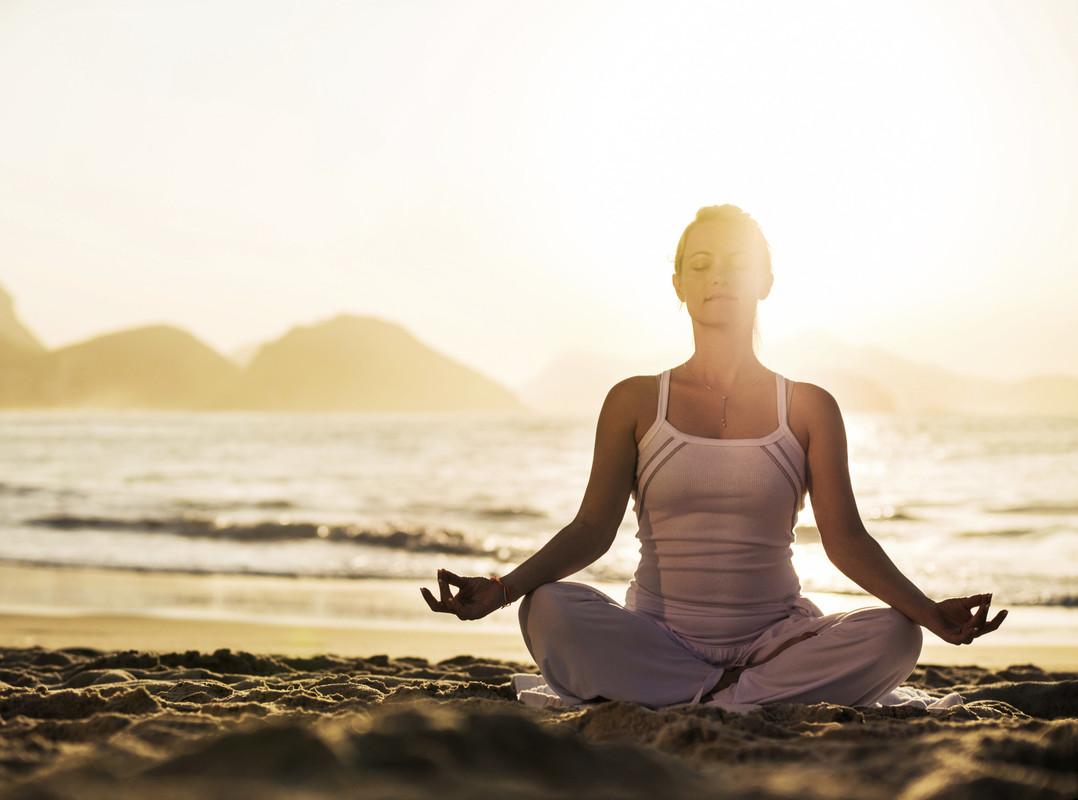 Meditieren in der Lotusposition