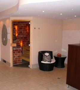 Saunabereich im Hotel Ascona