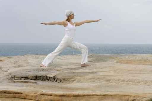 Posición el guerrero Yoga 1