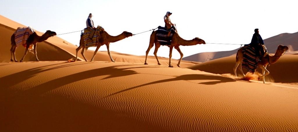 Kameltrekking in Marokkos Wüste