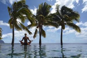 Yoga im Maradiva Villas Resort & Spa, Mauritius