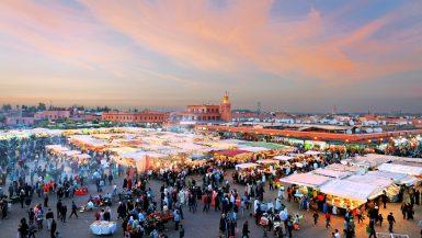 Orientalischer Markt in Marokko