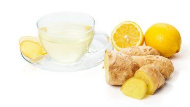 Ingwertee mit Zitrone
